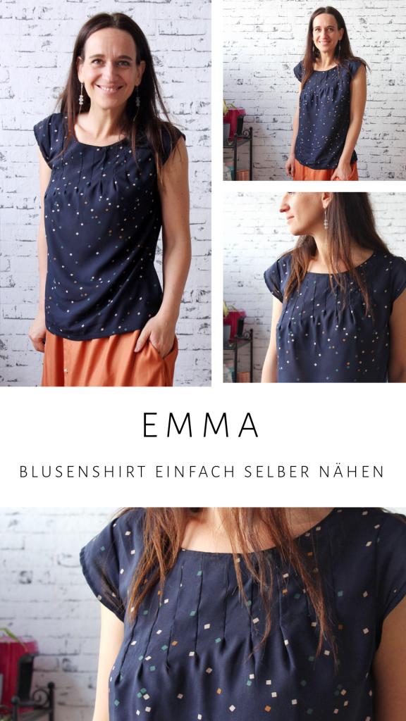 Emma Blusen Shirt einfach selber nähen FnasIdeen